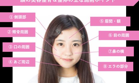 顔の美容整骨・整体の施術ポイント
